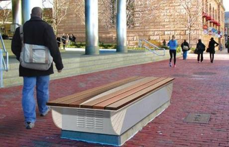 Another winning entrant was a proposal to remake gray utility boxes into useful benches.